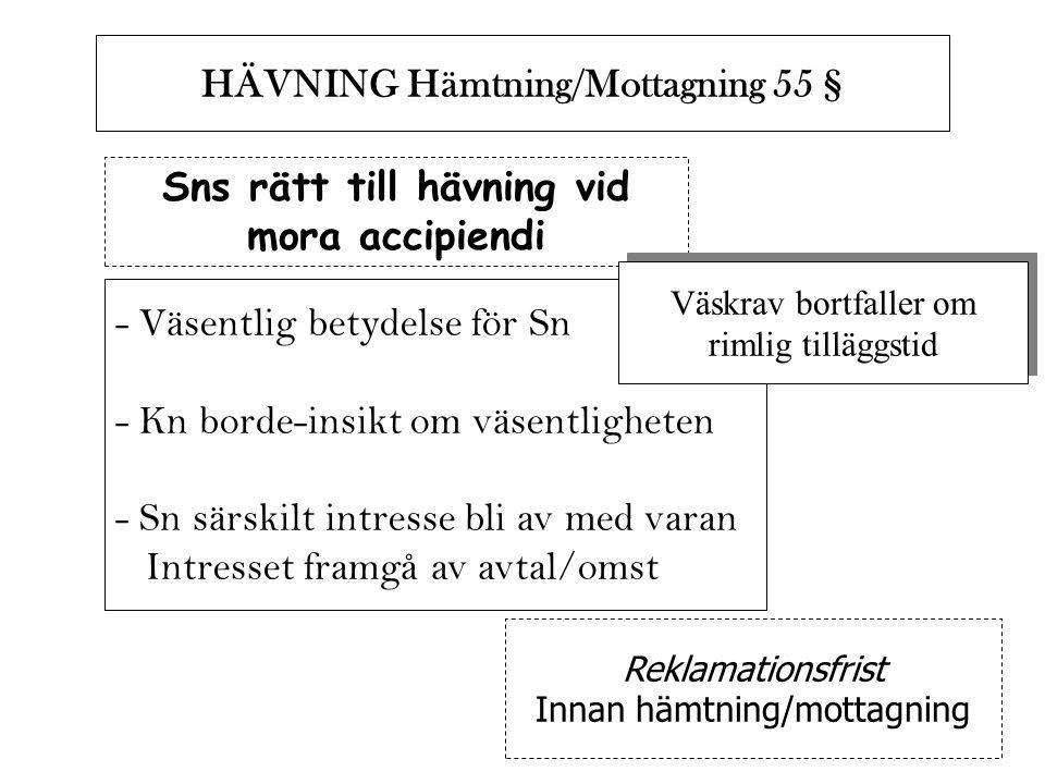 HÄVNING Hämtning/Mottagning 55 §