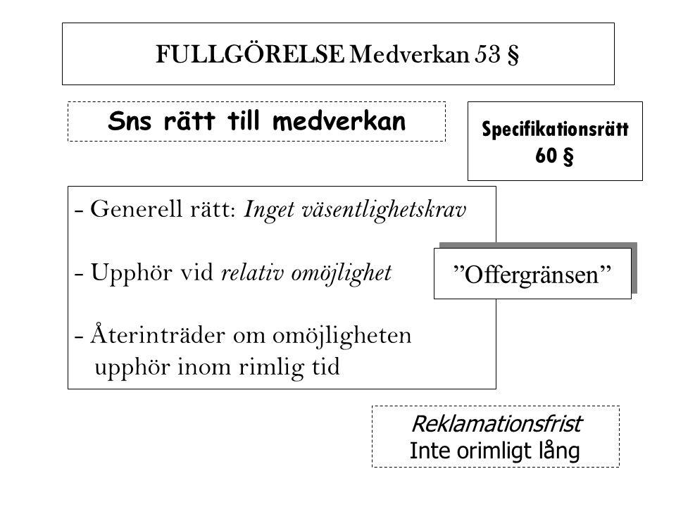 FULLGÖRELSE Medverkan 53 § Sns rätt till medverkan
