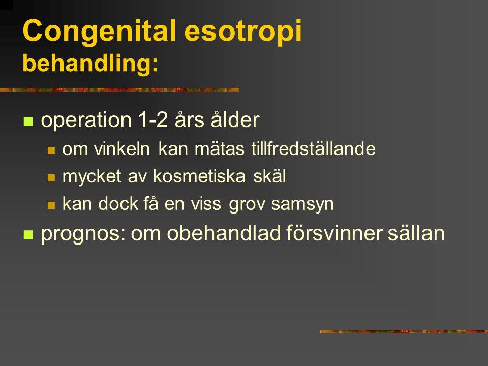 Congenital esotropi behandling: