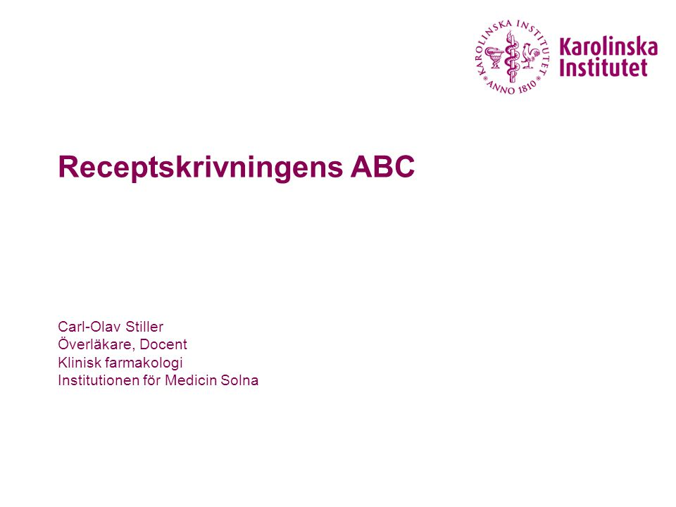 Receptskrivningens ABC