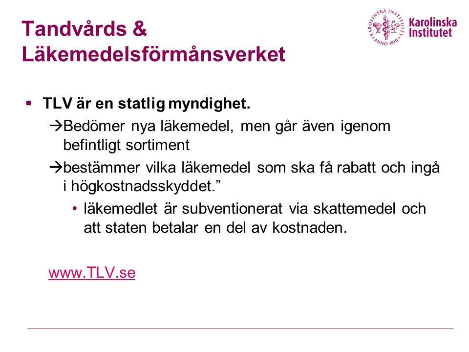 Tandvårds & Läkemedelsförmånsverket
