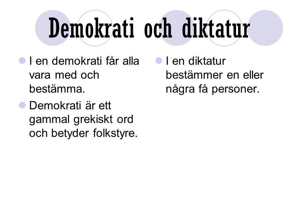 Demokrati och diktatur