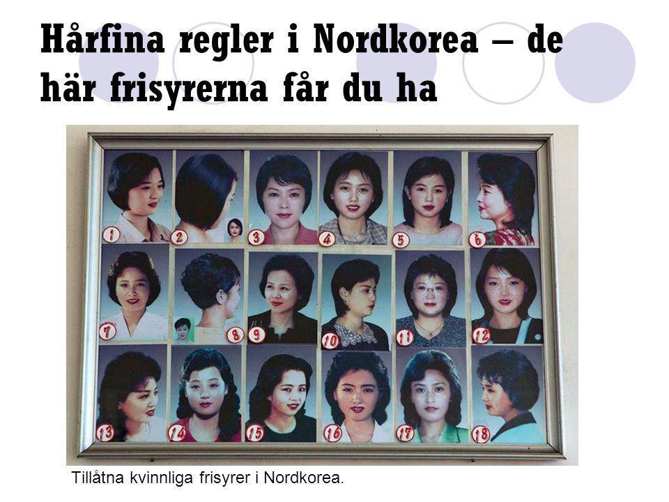 Hårfina regler i Nordkorea – de här frisyrerna får du ha