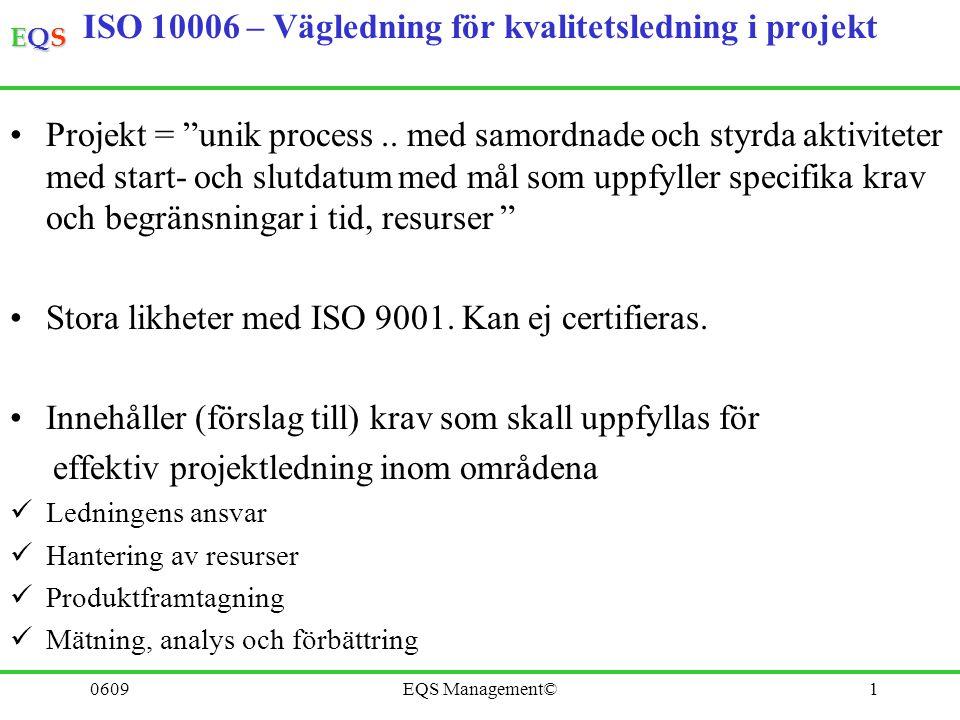 ISO 10006 – Vägledning för kvalitetsledning i projekt