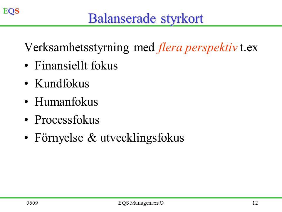 Balanserade styrkort Verksamhetsstyrning med flera perspektiv t.ex