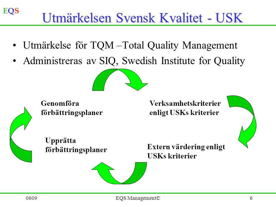 Utmärkelsen Svensk Kvalitet - USK