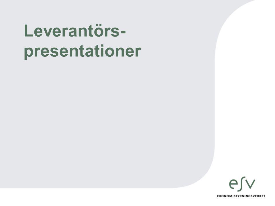 Leverantörs-presentationer