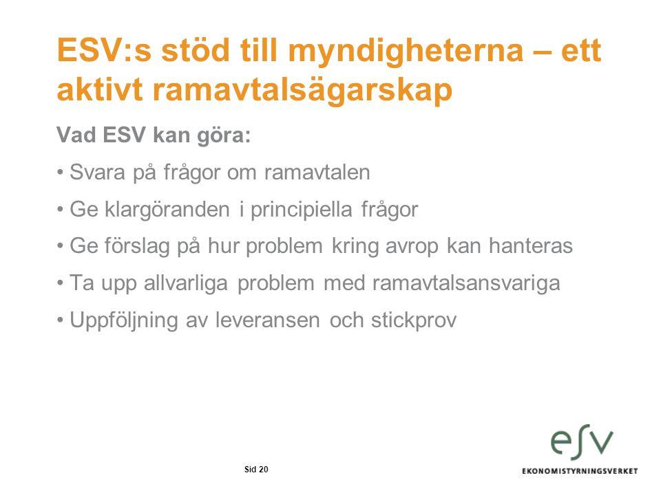 ESV:s stöd till myndigheterna – ett aktivt ramavtalsägarskap