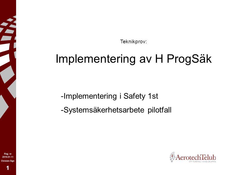 Implementering av H ProgSäk