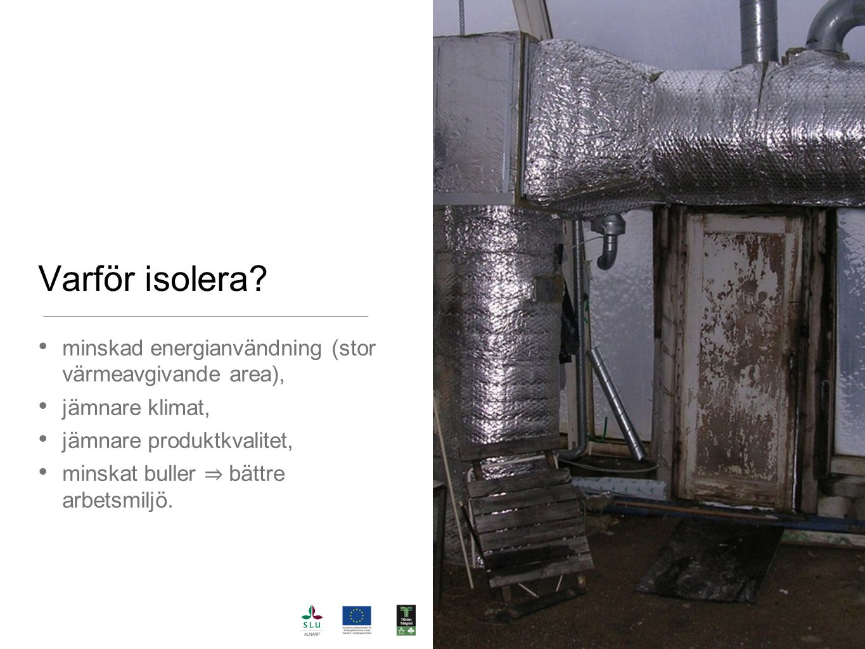 Varför isolera minskad energianvändning (stor värmeavgivande area),