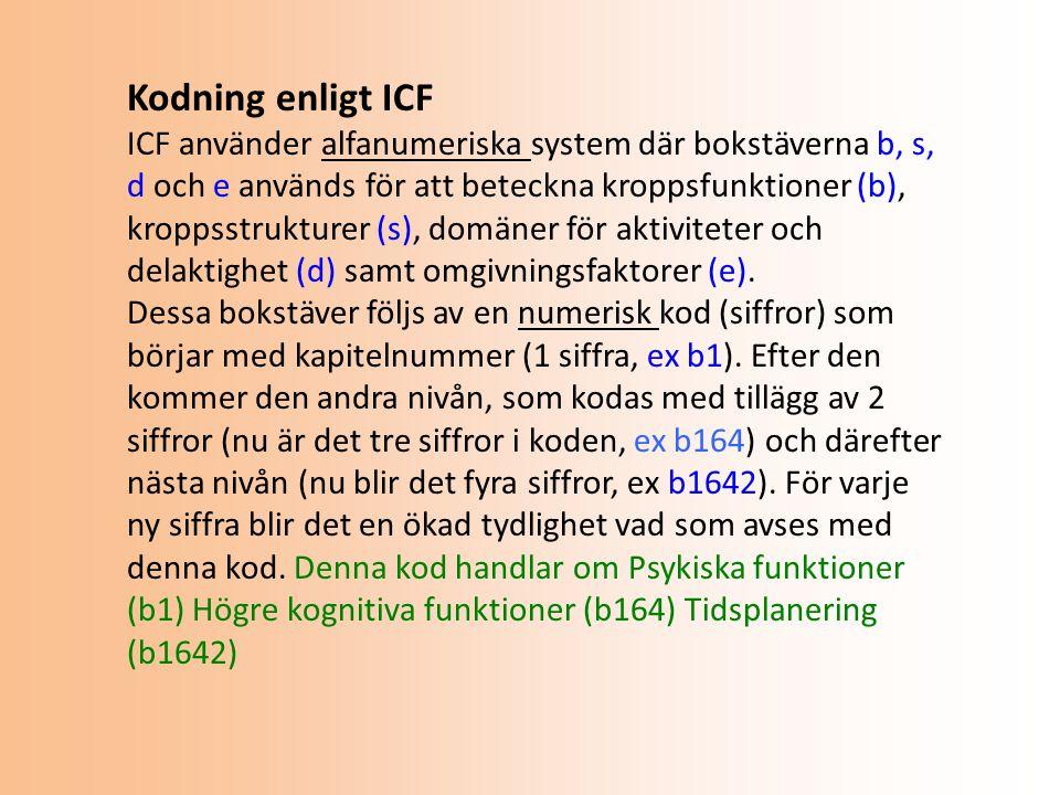 Kodning enligt ICF