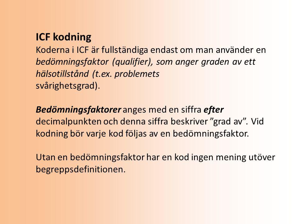 ICF kodning