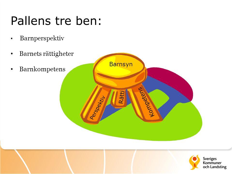 Pallens tre ben: Barnets rättigheter Barnkompetens Barnperspektiv