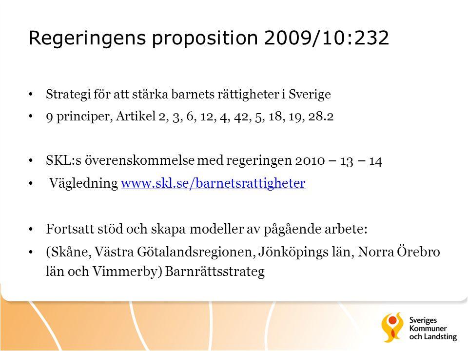 Regeringens proposition 2009/10:232
