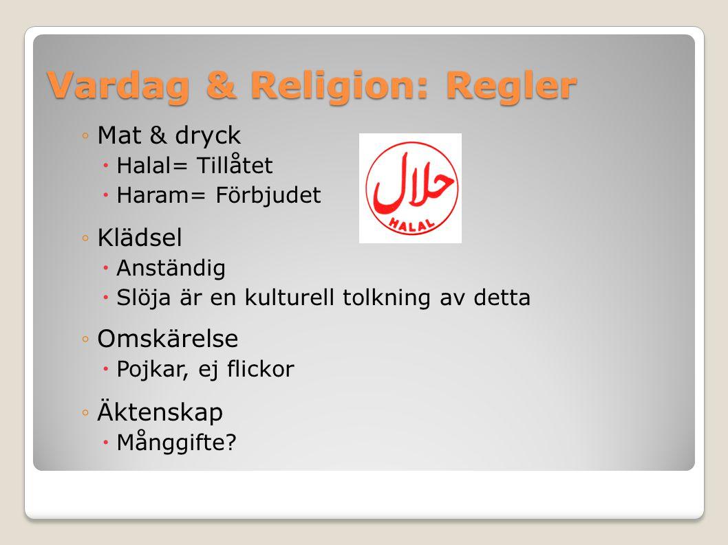 Vardag & Religion: Regler