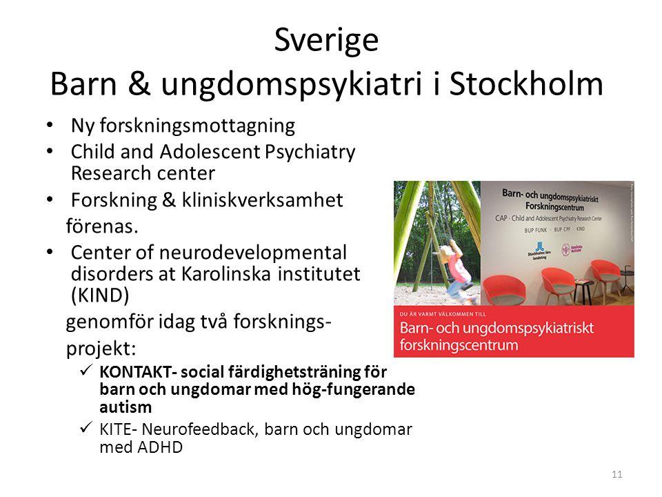 Sverige Barn & ungdomspsykiatri i Stockholm
