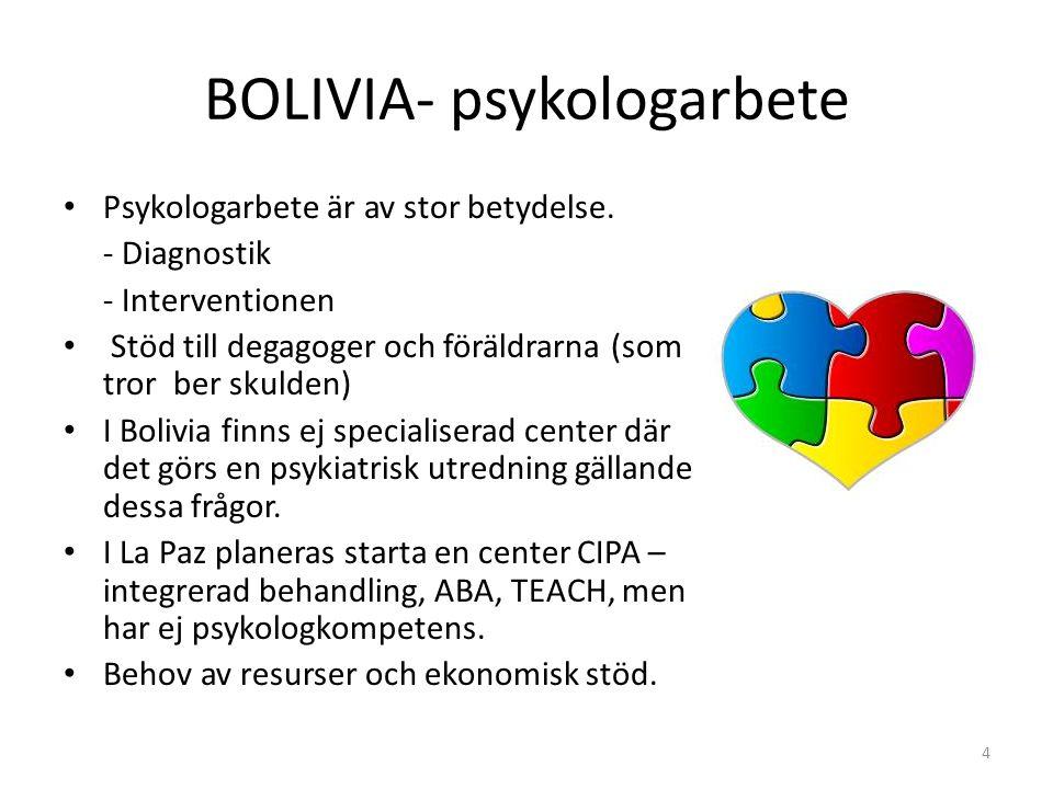 BOLIVIA- psykologarbete