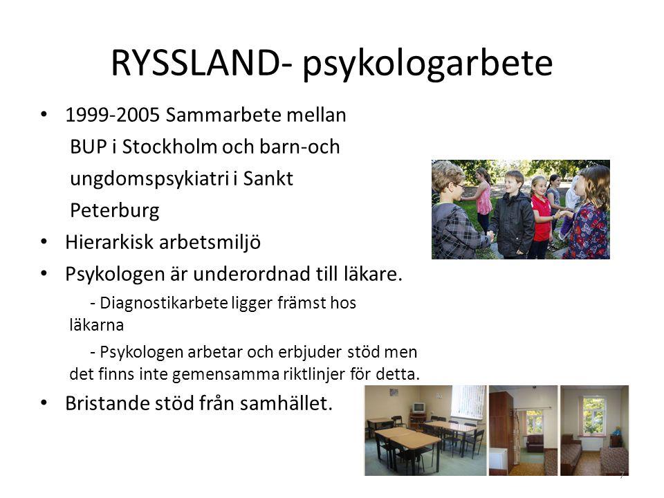 RYSSLAND- psykologarbete