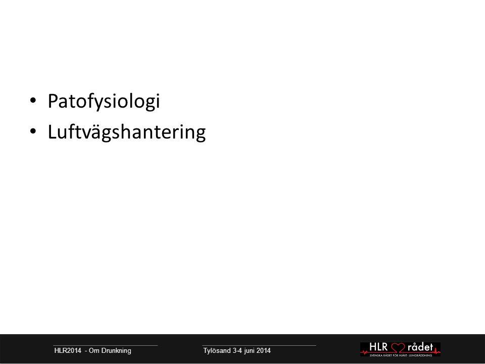 Patofysiologi Luftvägshantering