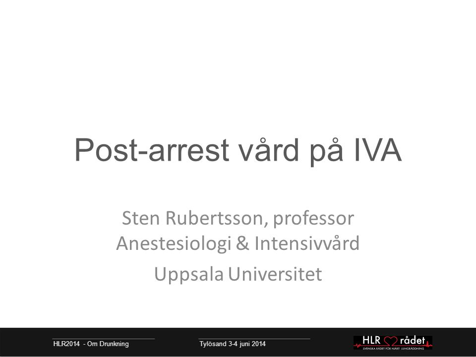 Post-arrest vård på IVA