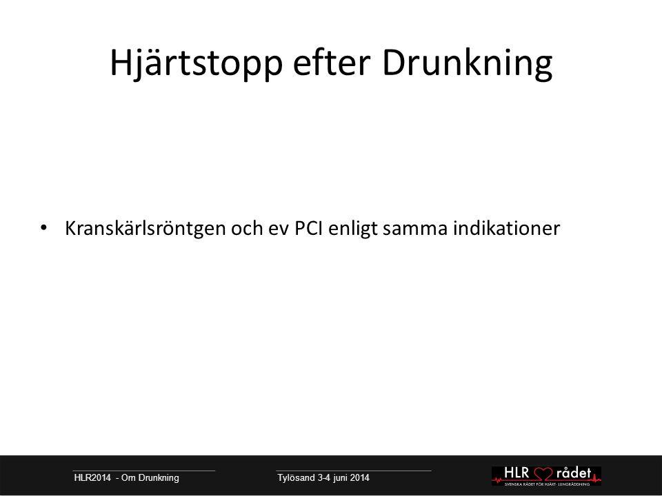 Hjärtstopp efter Drunkning