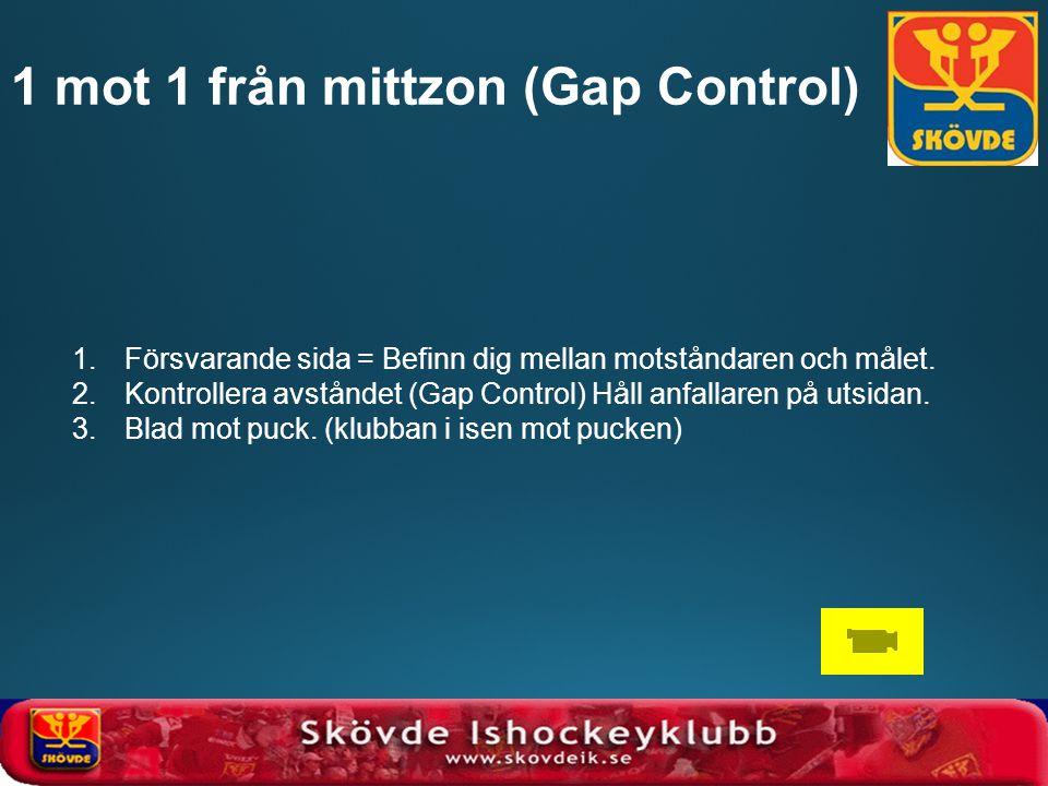 1 mot 1 från mittzon (Gap Control)