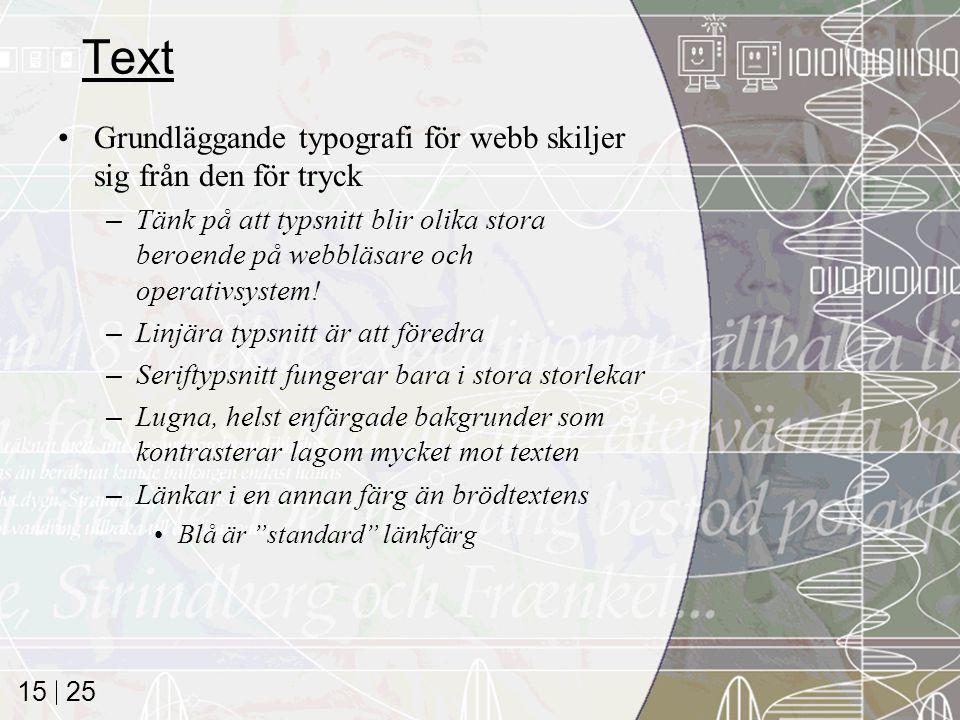 Text Grundläggande typografi för webb skiljer sig från den för tryck