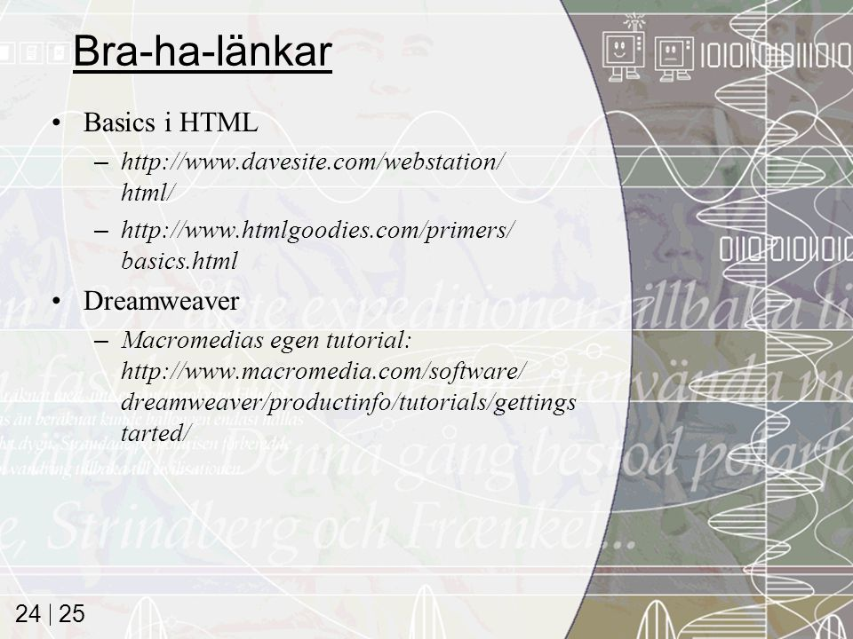 Bra-ha-länkar Basics i HTML Dreamweaver