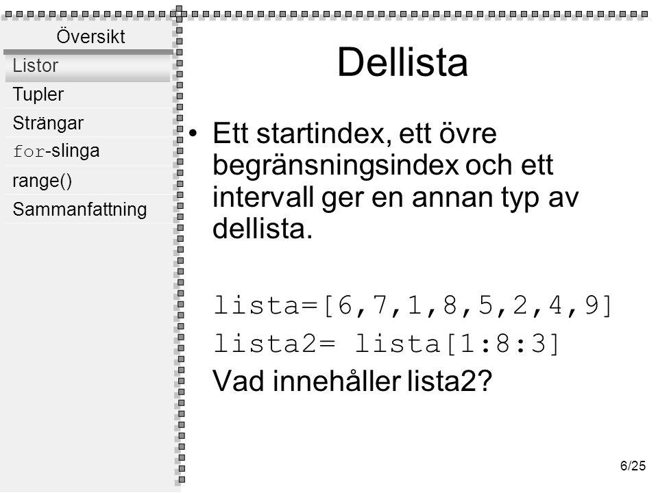 Ändra Identifierade element / dellistor kan ändras: