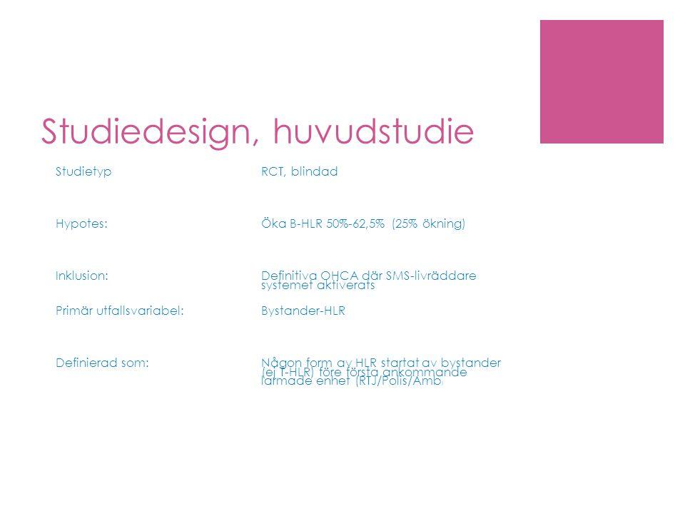 Studiedesign, huvudstudie