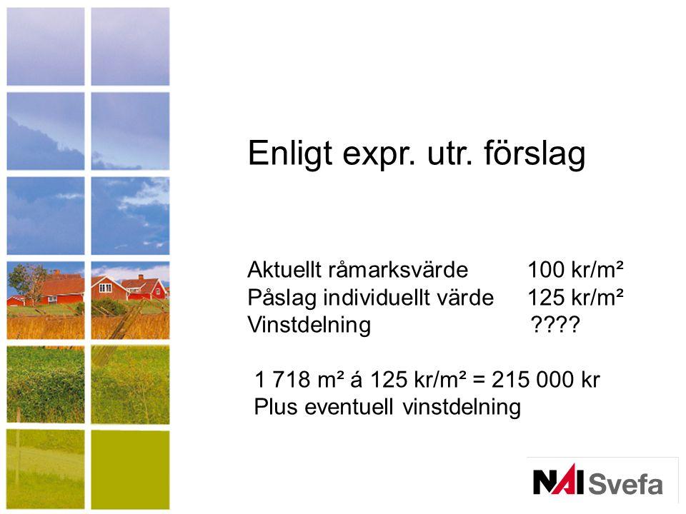 Enligt expr. utr. förslag
