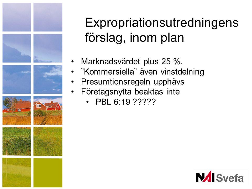 Expropriationsutredningens förslag, inom plan