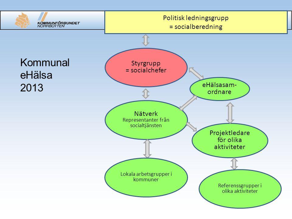 Kommunal eHälsa 2013 Politisk ledningsgrupp = socialberedning