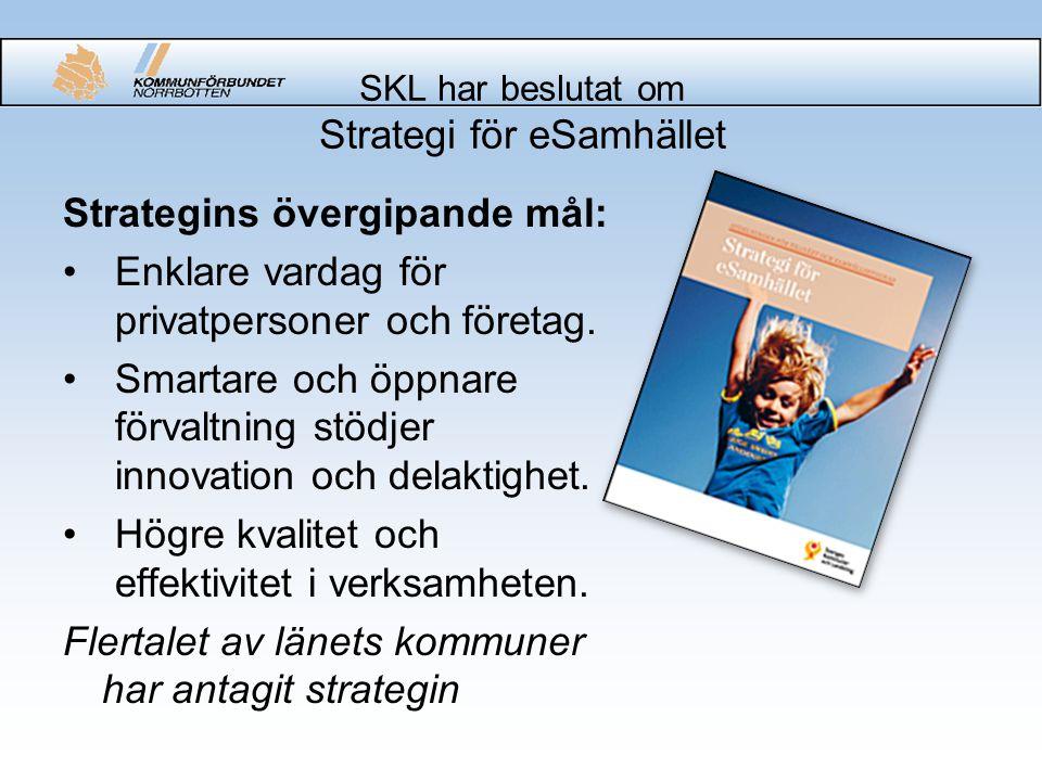 SKL har beslutat om Strategi för eSamhället