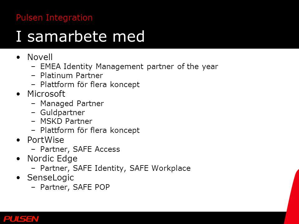 I samarbete med Novell Microsoft PortWise Nordic Edge SenseLogic