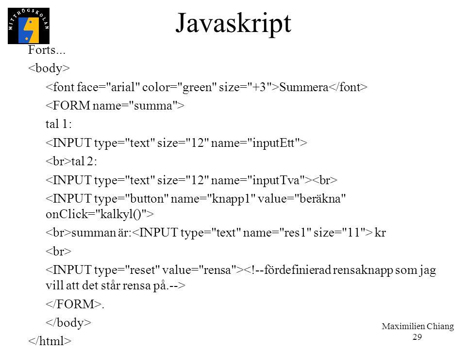 Javaskript Forts... <body>