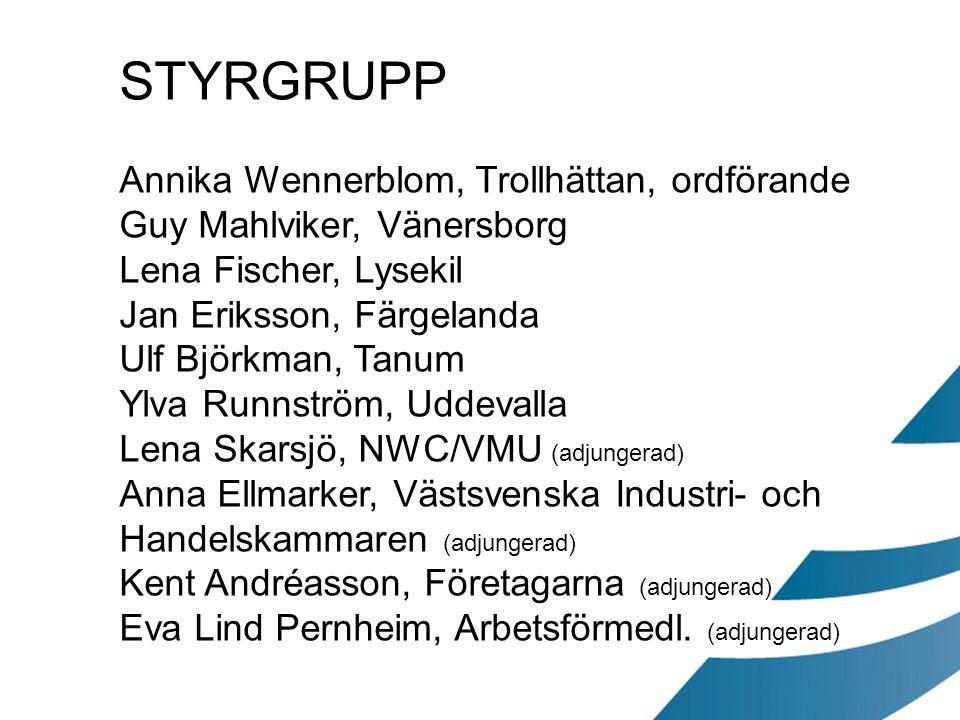 STYRGRUPP Annika Wennerblom, Trollhättan, ordförande