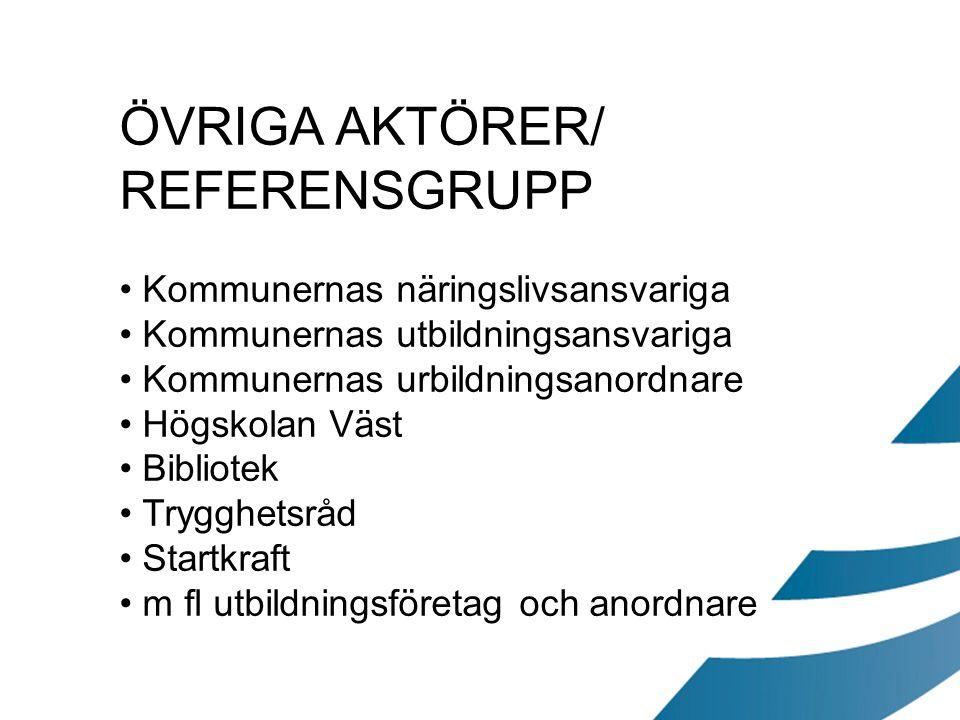 ÖVRIGA AKTÖRER/ REFERENSGRUPP Kommunernas näringslivsansvariga