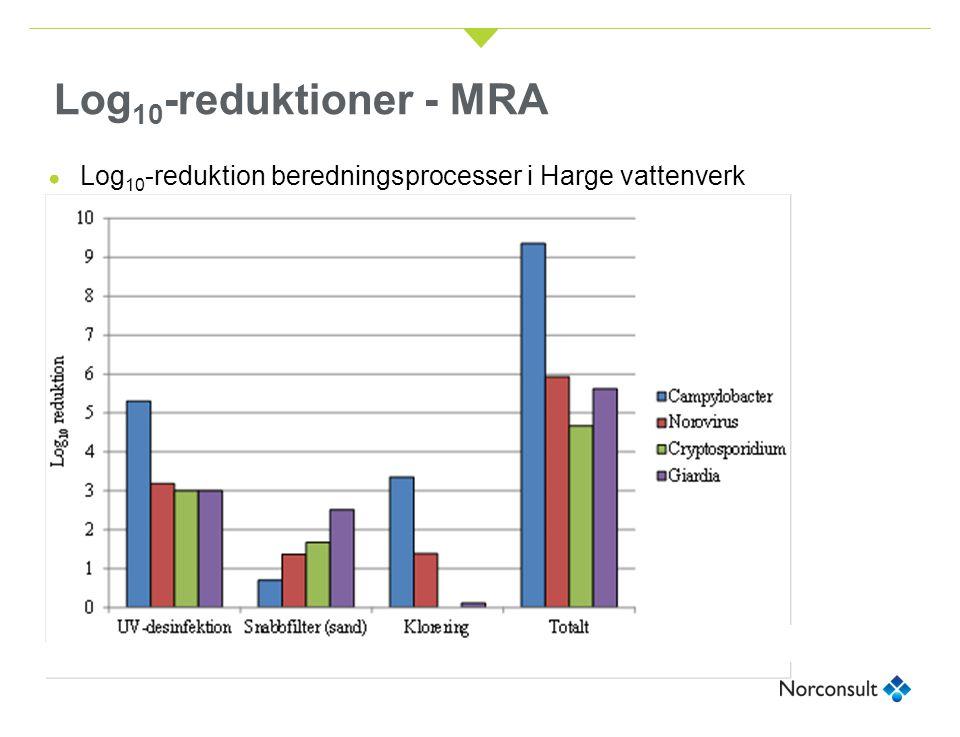 Log10-reduktioner - MRA Log10-reduktion beredningsprocesser i Harge vattenverk