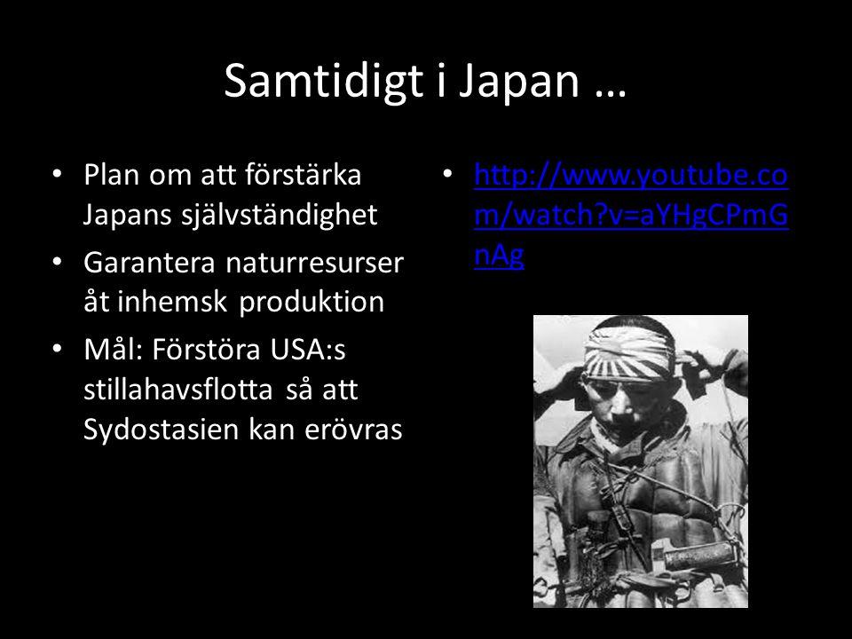 Samtidigt i Japan … Plan om att förstärka Japans självständighet