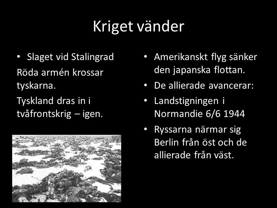 Kriget vänder Slaget vid Stalingrad Röda armén krossar tyskarna.