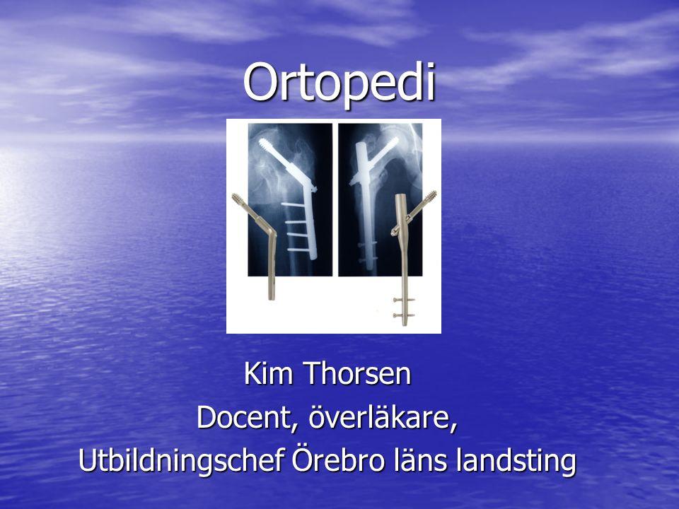 Kim Thorsen Docent, överläkare, Utbildningschef Örebro läns landsting
