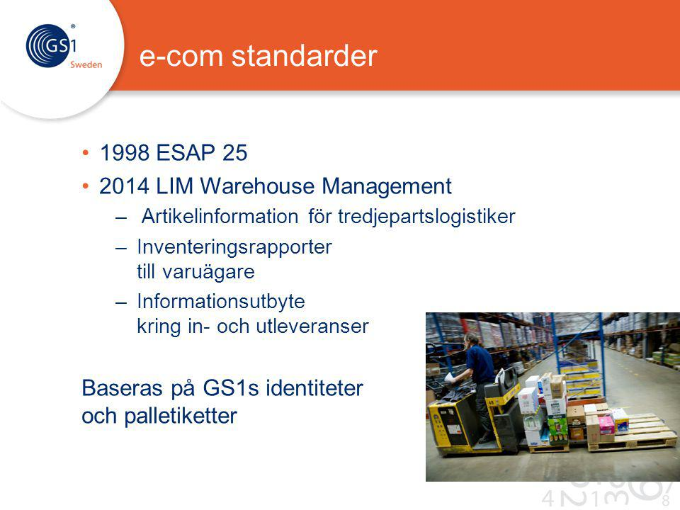 e-com standarder 1998 ESAP 25 2014 LIM Warehouse Management