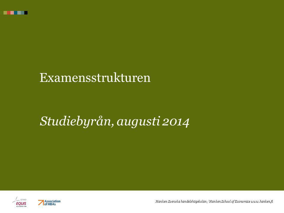 Examensstrukturen Studiebyrån, augusti 2014