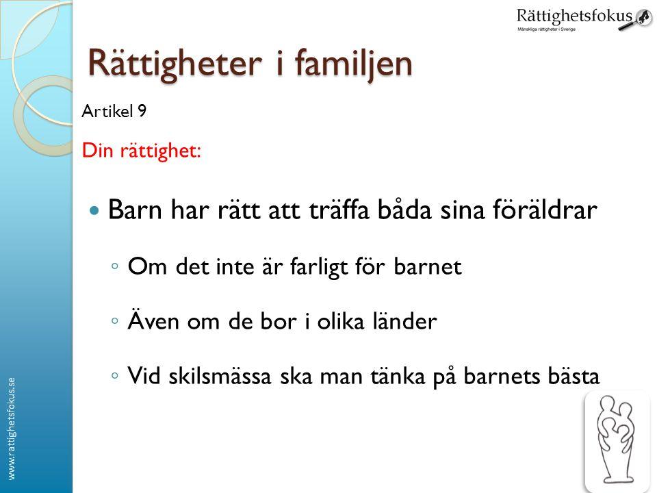Rättigheter i familjen
