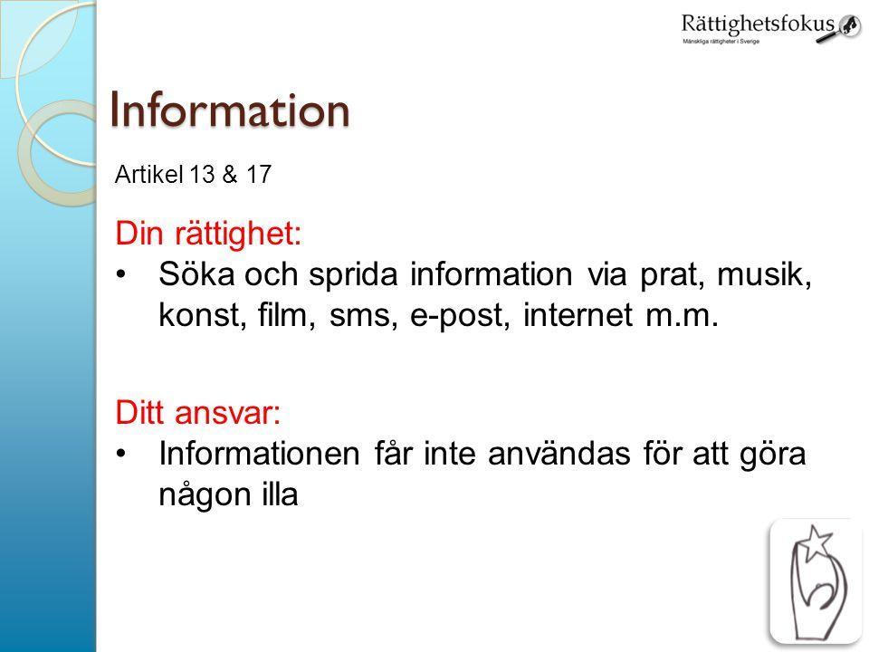 Information Din rättighet:
