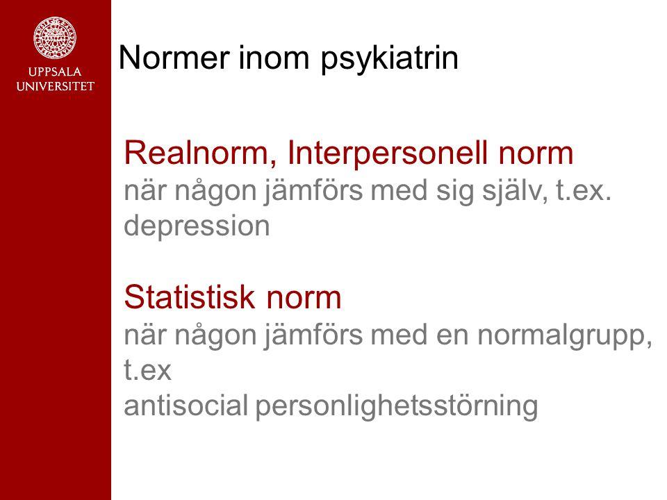 Normer inom psykiatrin