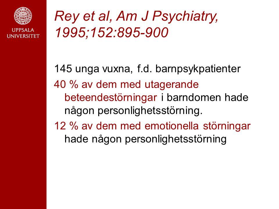 Rey et al, Am J Psychiatry, 1995;152:895-900