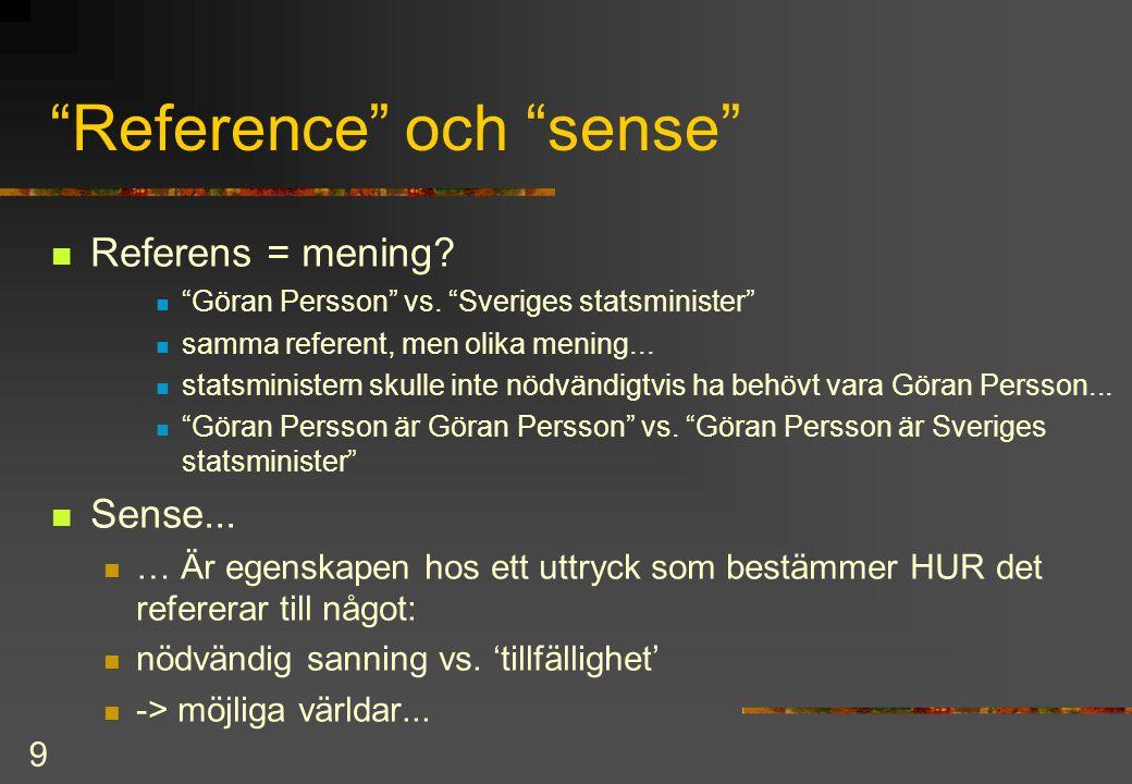 Reference och sense