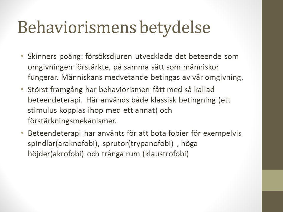 Behaviorismens betydelse